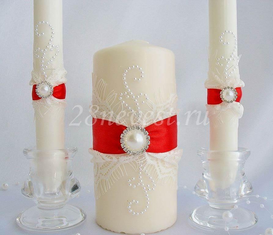 Свечи на свадьбу своими руками цена